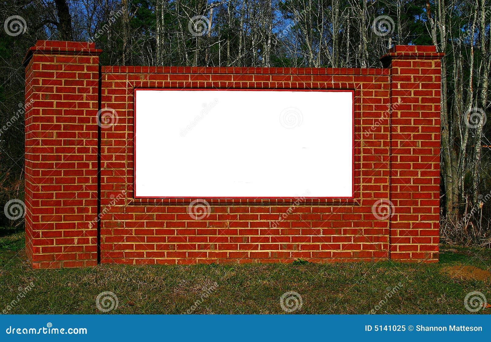 Brick Sign Royalty Free Stock Photo Image 5141025