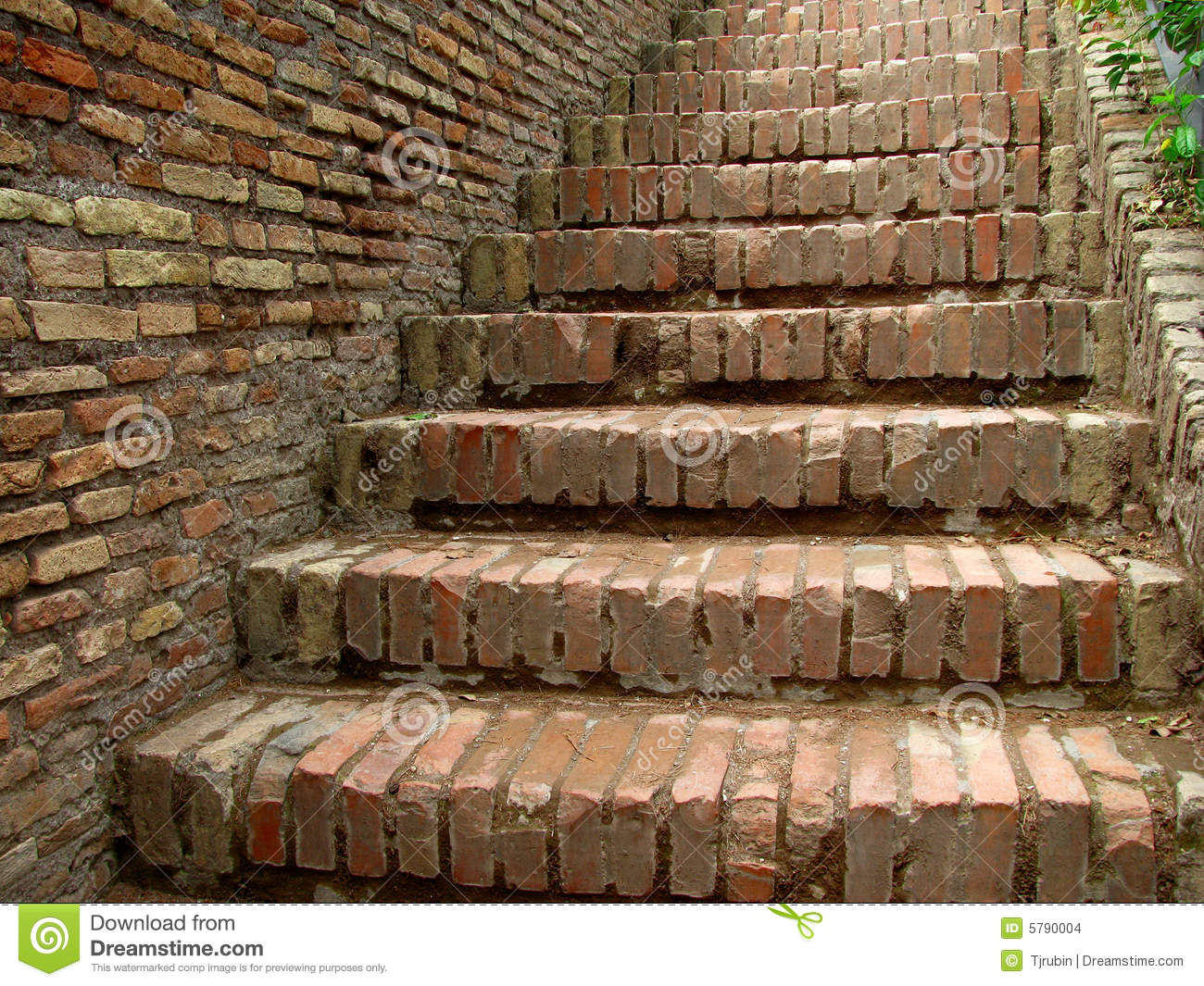 Brick Stairs Stock Images Image 5790004