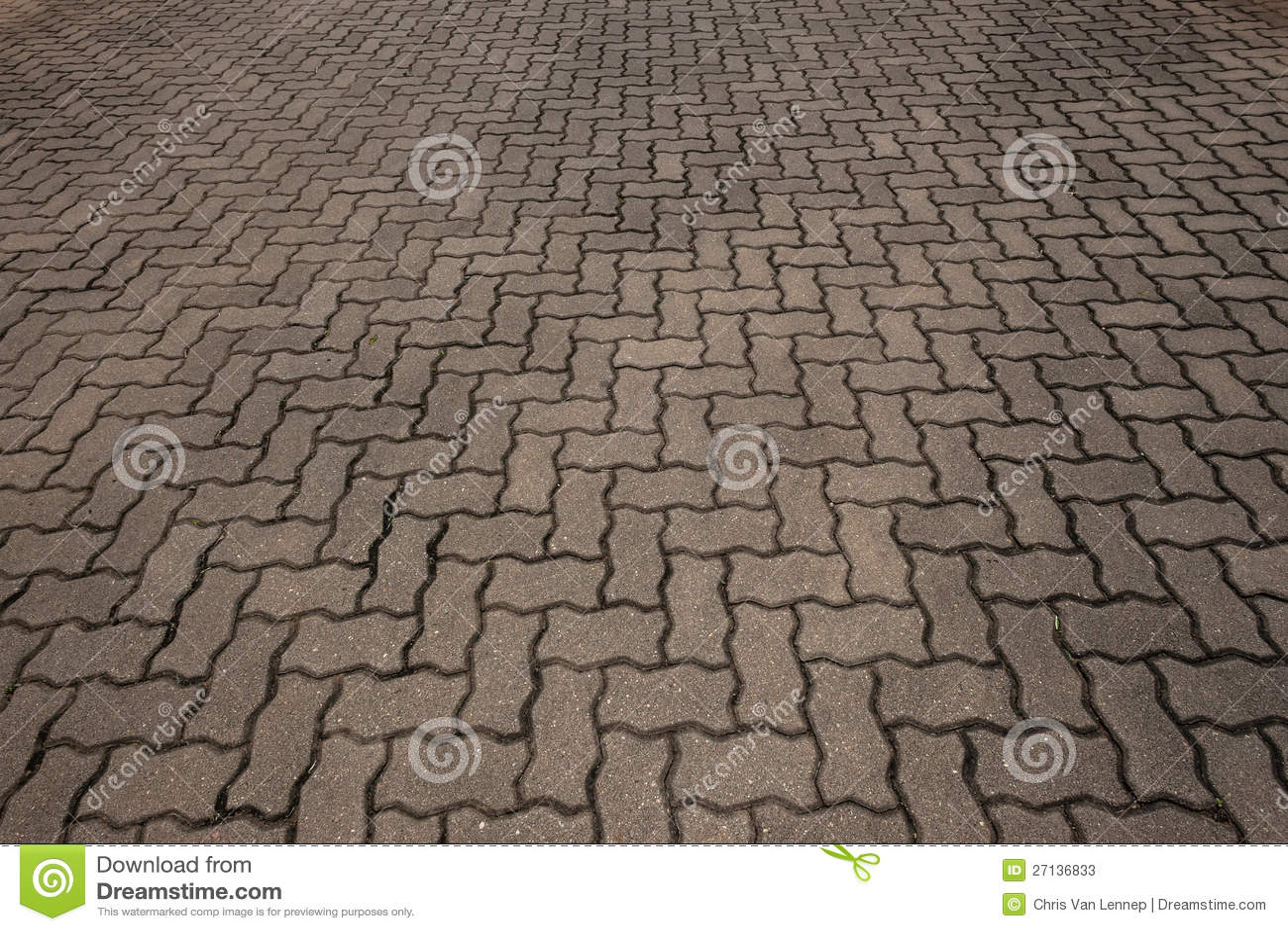 Brick Stone Car Park Floor Stock Photos Image 27136833