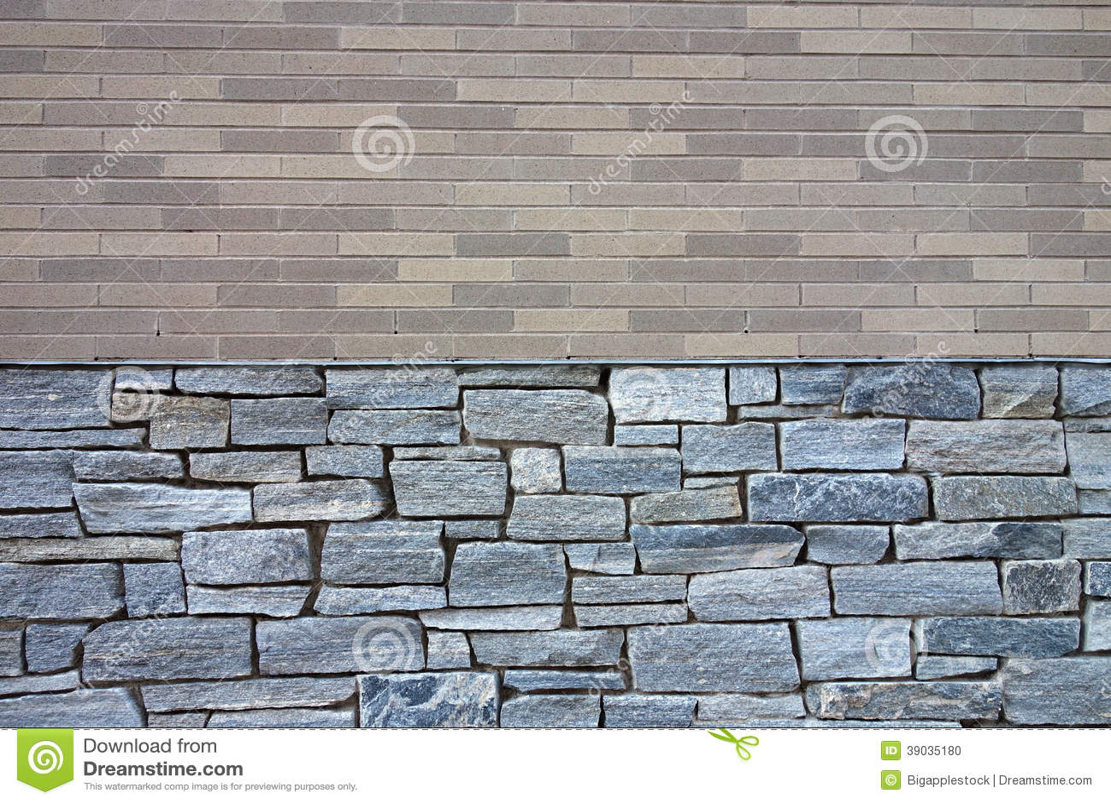 Brick And Stone Wall Stock Photo Image 39035180