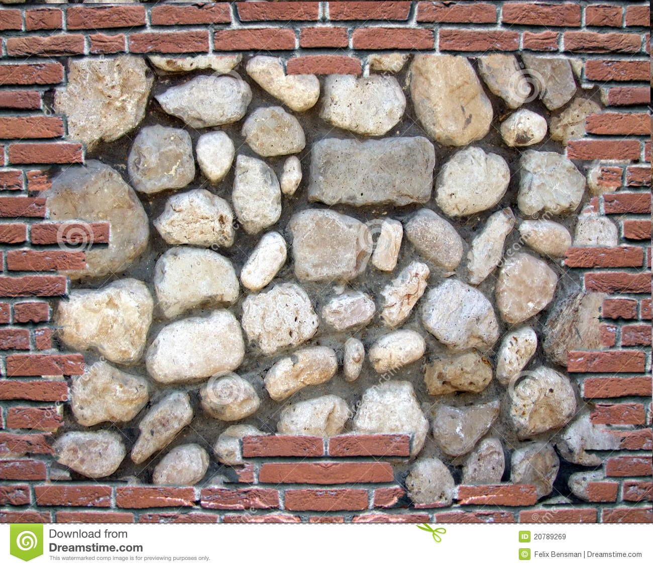 Brick and stone wall pattern stock image image of wall for Stone and brick