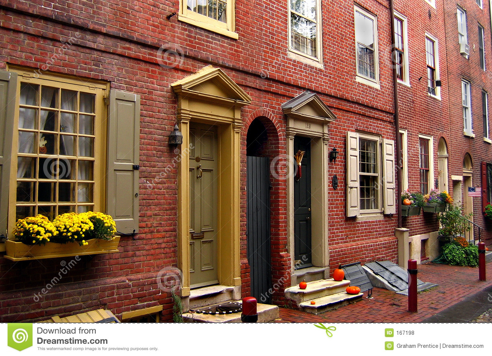 Brick street front
