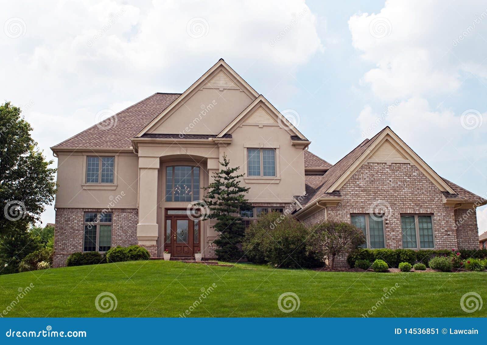 Brick And Stucco Home Stock Image Image 14536851