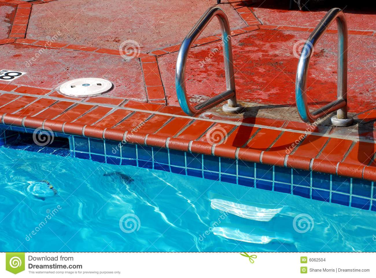 Brick swimming pool edge and tile stock photo image 6062504 Swimming pool tile installation cost