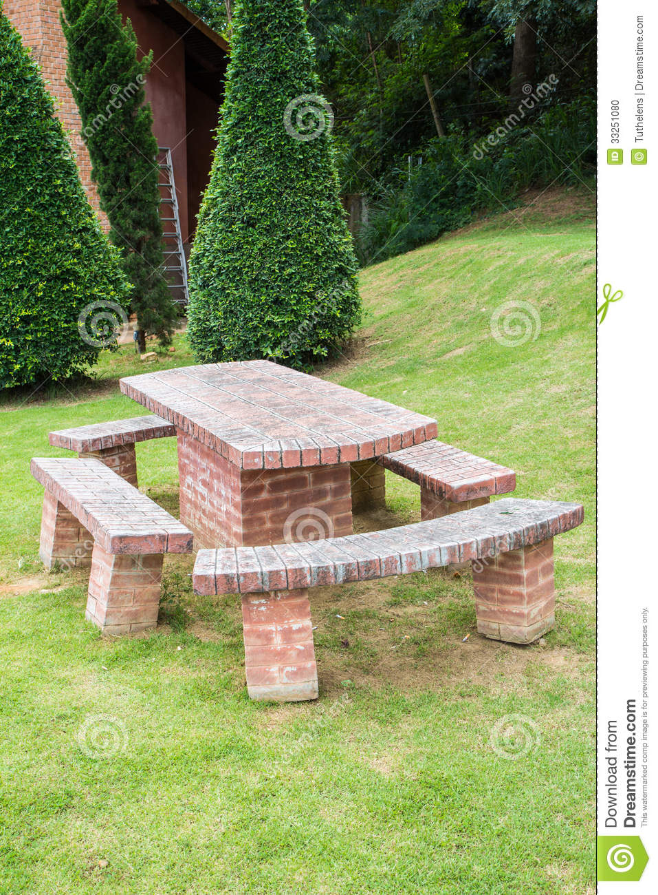 Royalty Free Stock Photo. Download Brick Table ...