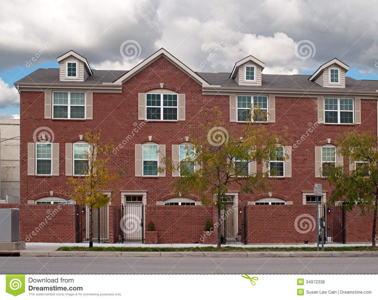 Brick Townhouses Royalty Free Stock Photos Image 34972338