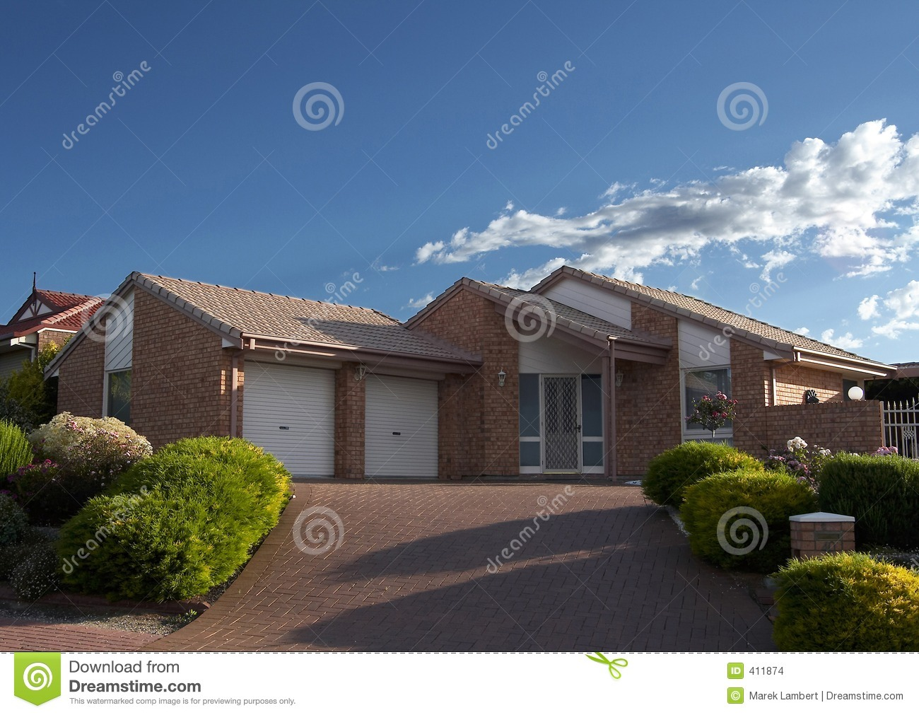 Brick veneer house stock photo image of wood veneer for What is brick veneer house