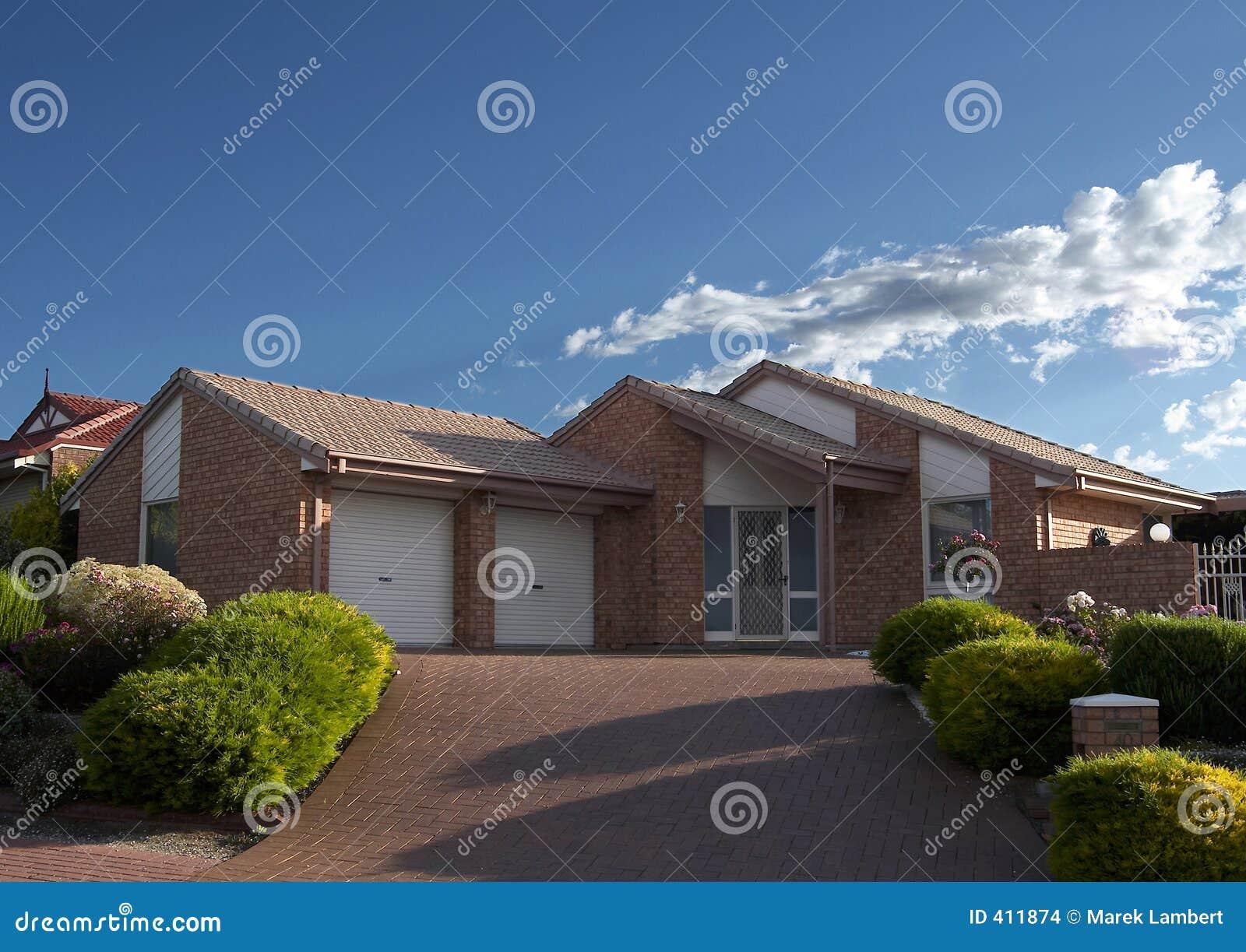 Brick veneer house stock photo image of wood veneer for Brick veneer home