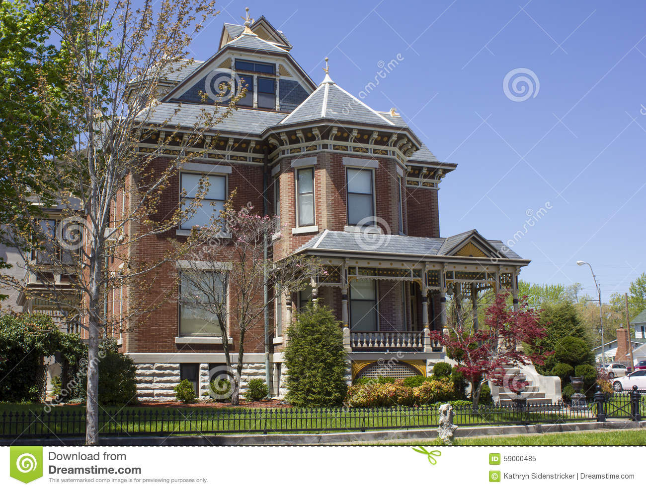 Brick Victorian Home Stock Image Image Of House Brick