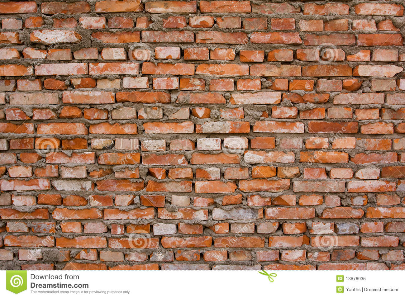 Red Brick Wall Background Textured Royalty Free Stock