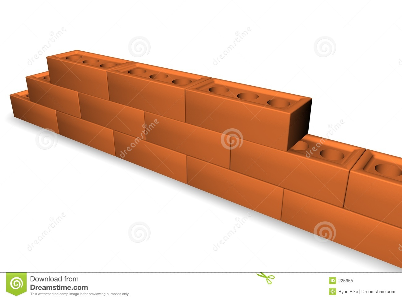 Download Brick wall stock illustration. Illustration of color, house - 225955