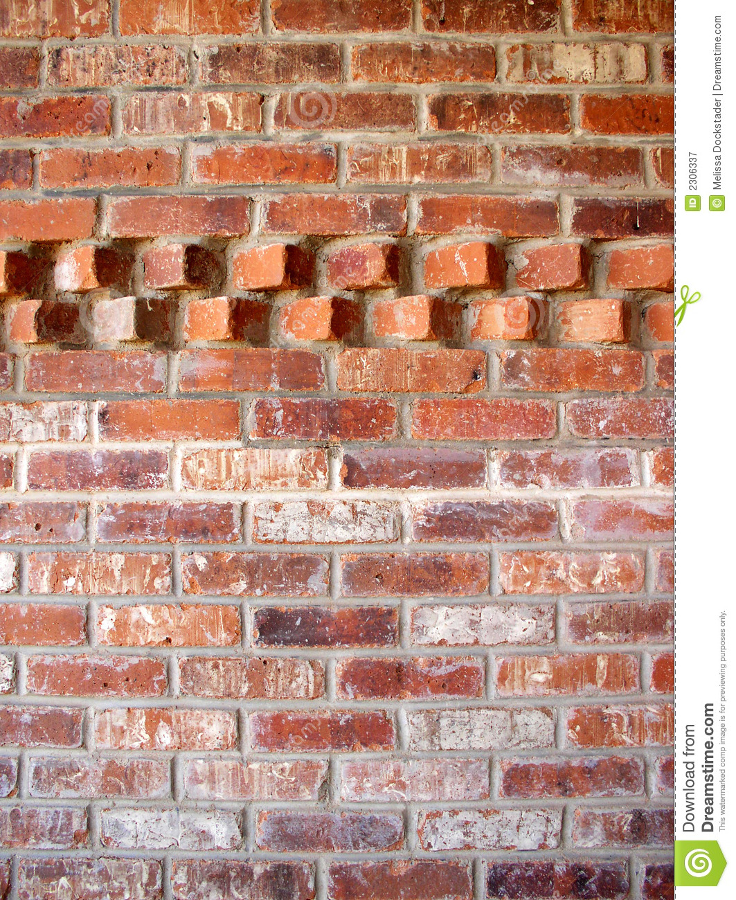 Brick Wall With Accent Pattern Royalty Free Stock