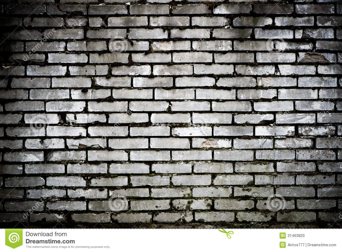 Brick wall   black & white background.