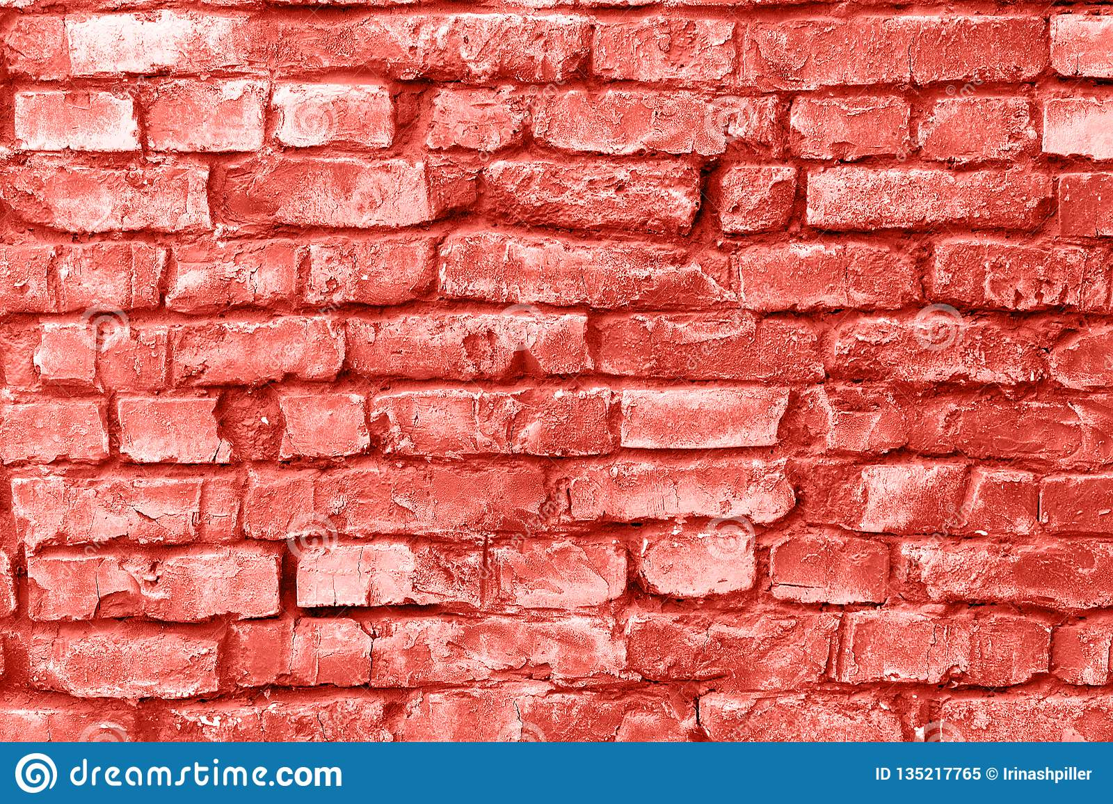 Brick Wall Background. Coral Creative And Moody Color Of