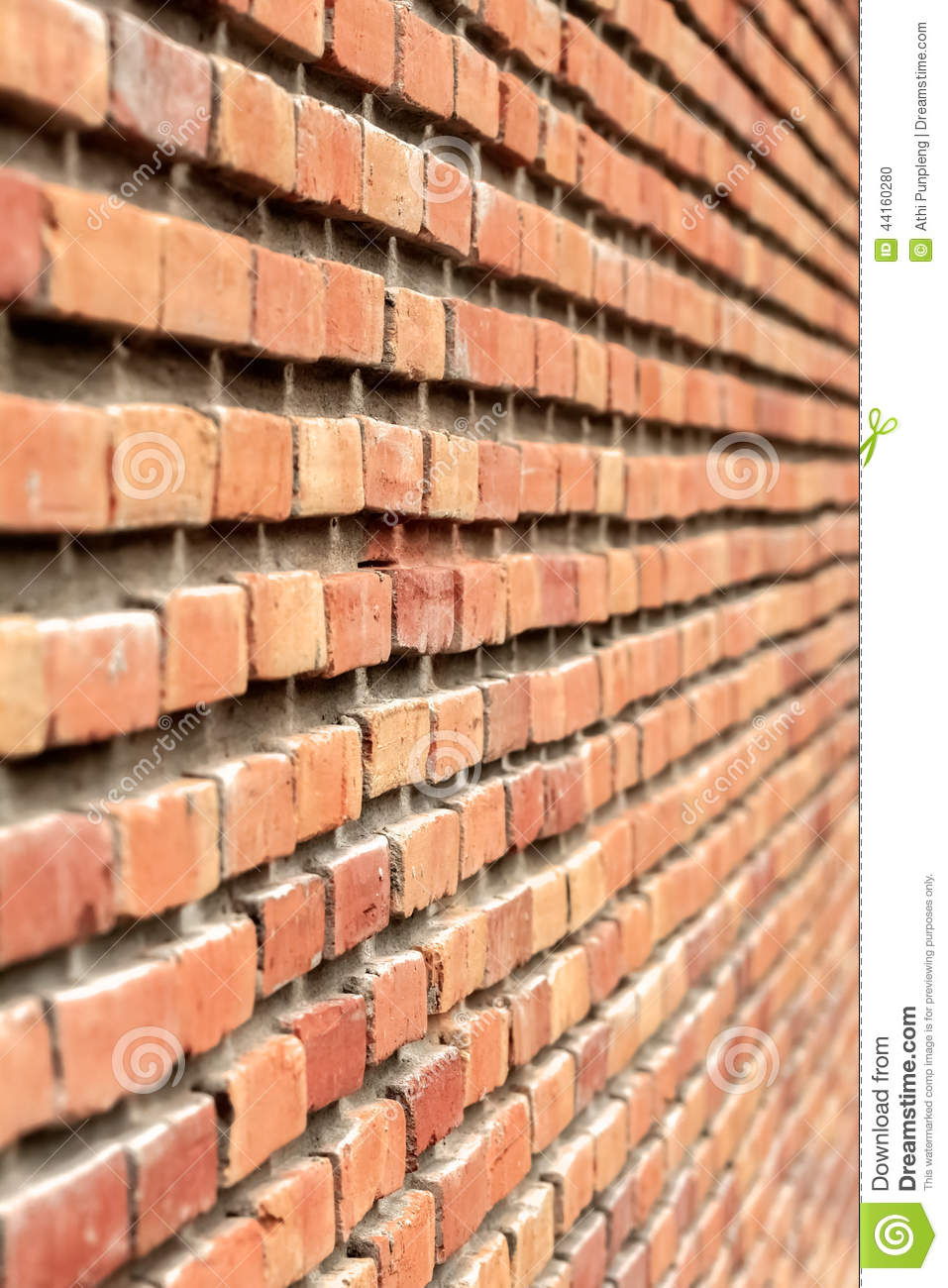 Brick Wall Background Perspective Stock Photo Image 44160280