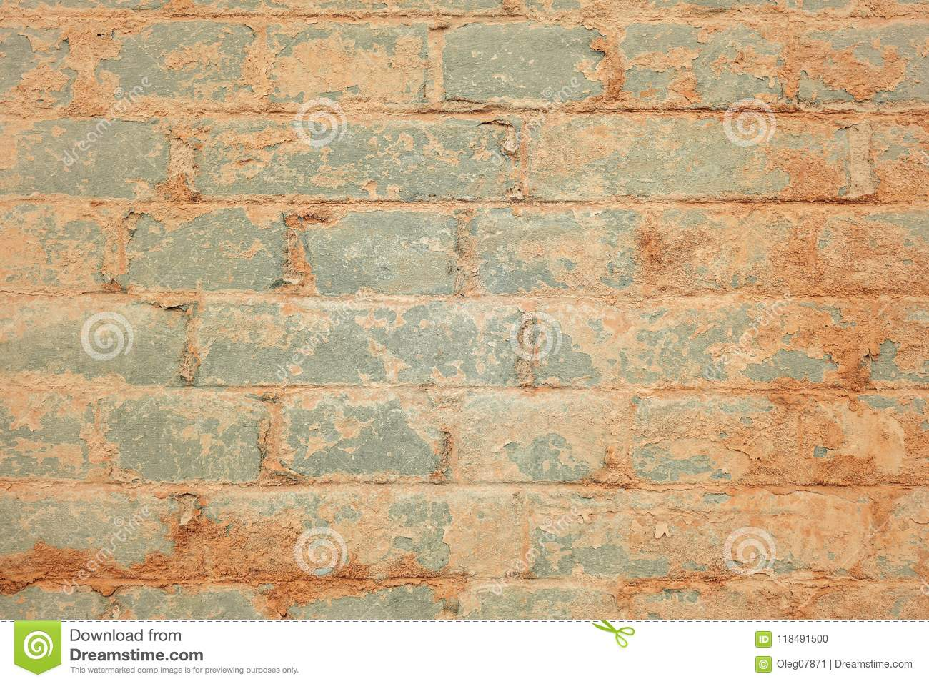 Brick wall. stock photo. Image of paint, color, stonework - 118491500
