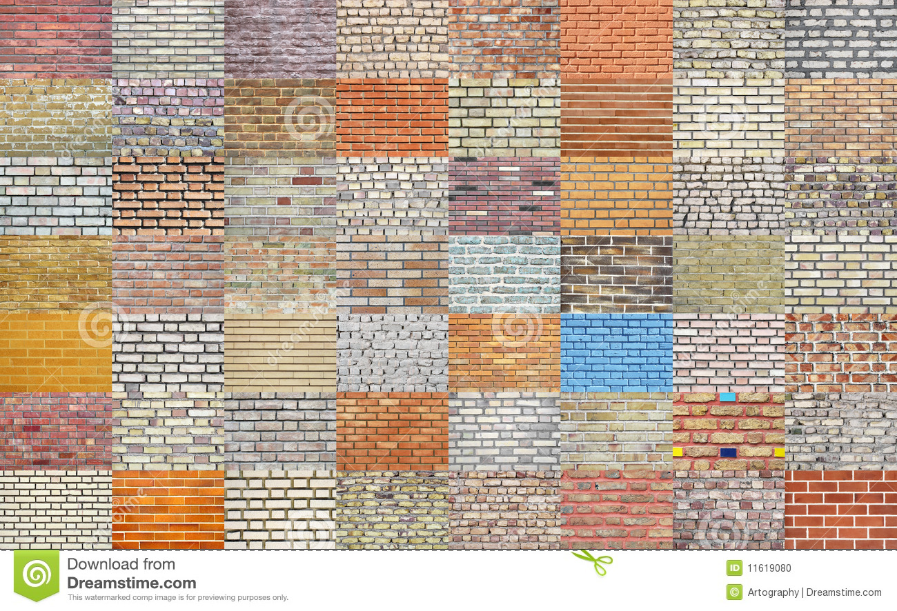 Brick wall collection