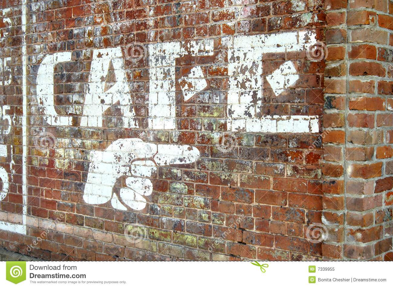 Brick Wall In Downtown Ft Smith Royalty Free Stock Photo
