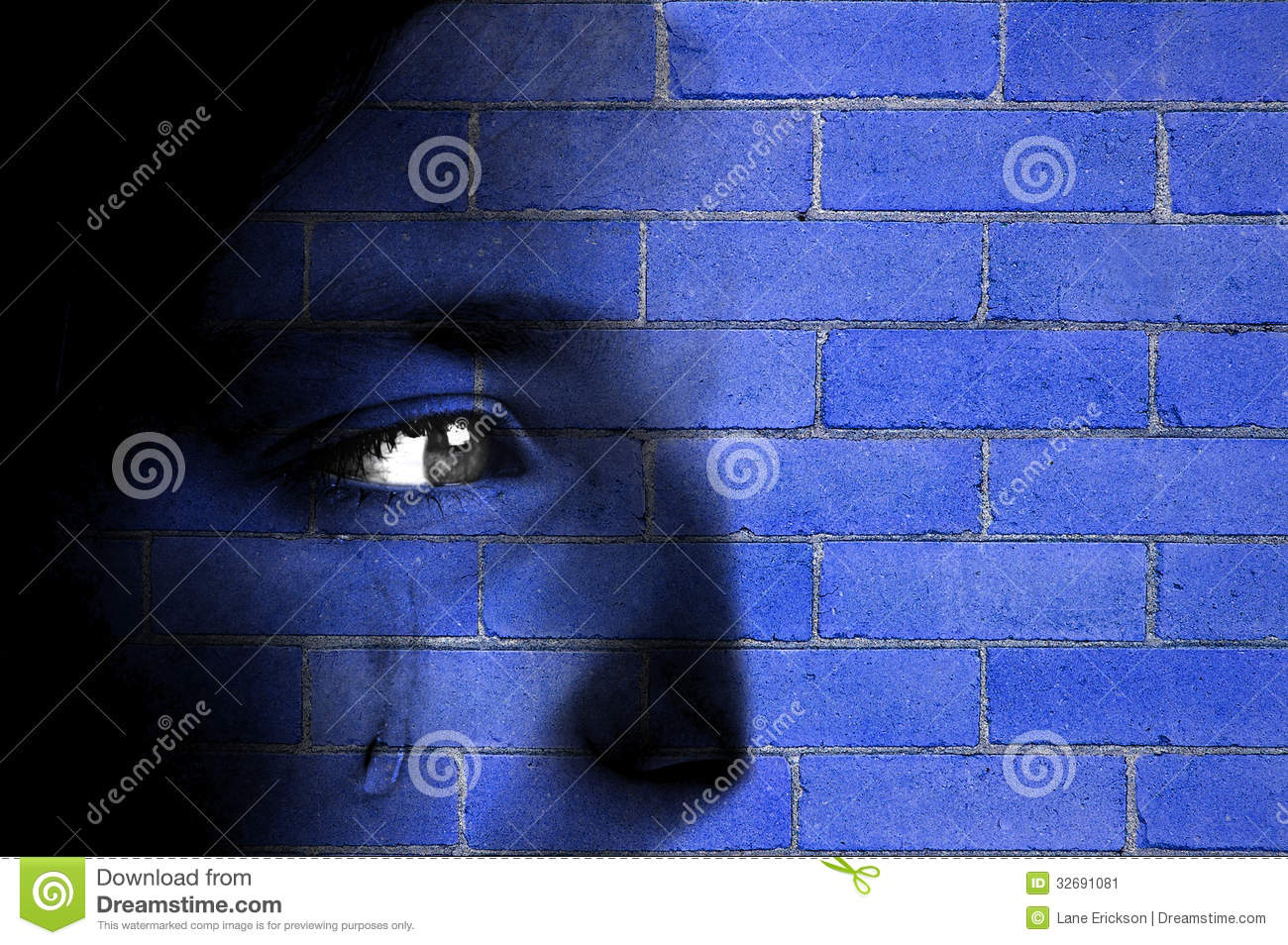 Download Brick Wall and Face stock image. Image of building, details - 32691081