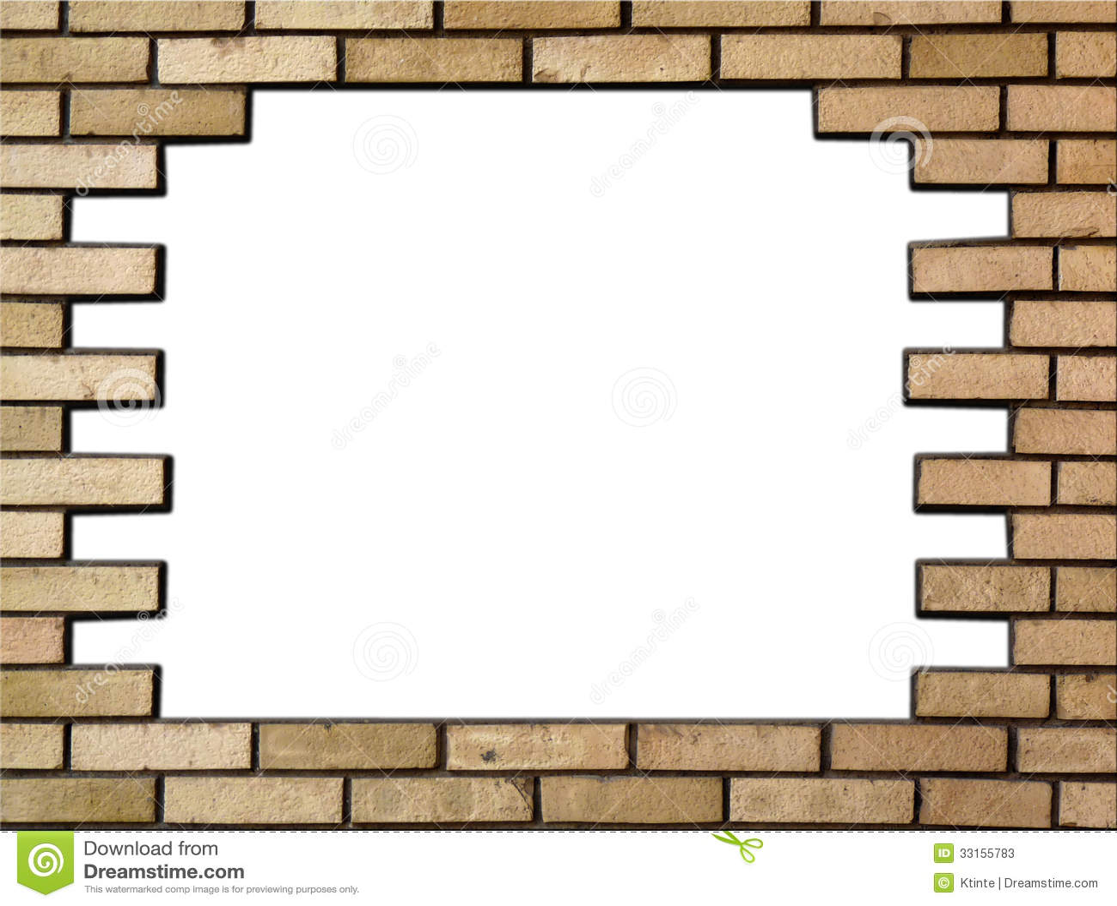 Old brick wall as a frame 01 stock photo image 18377500 - Filename Brick Wall Frame Horizontally 33155783 Jpg