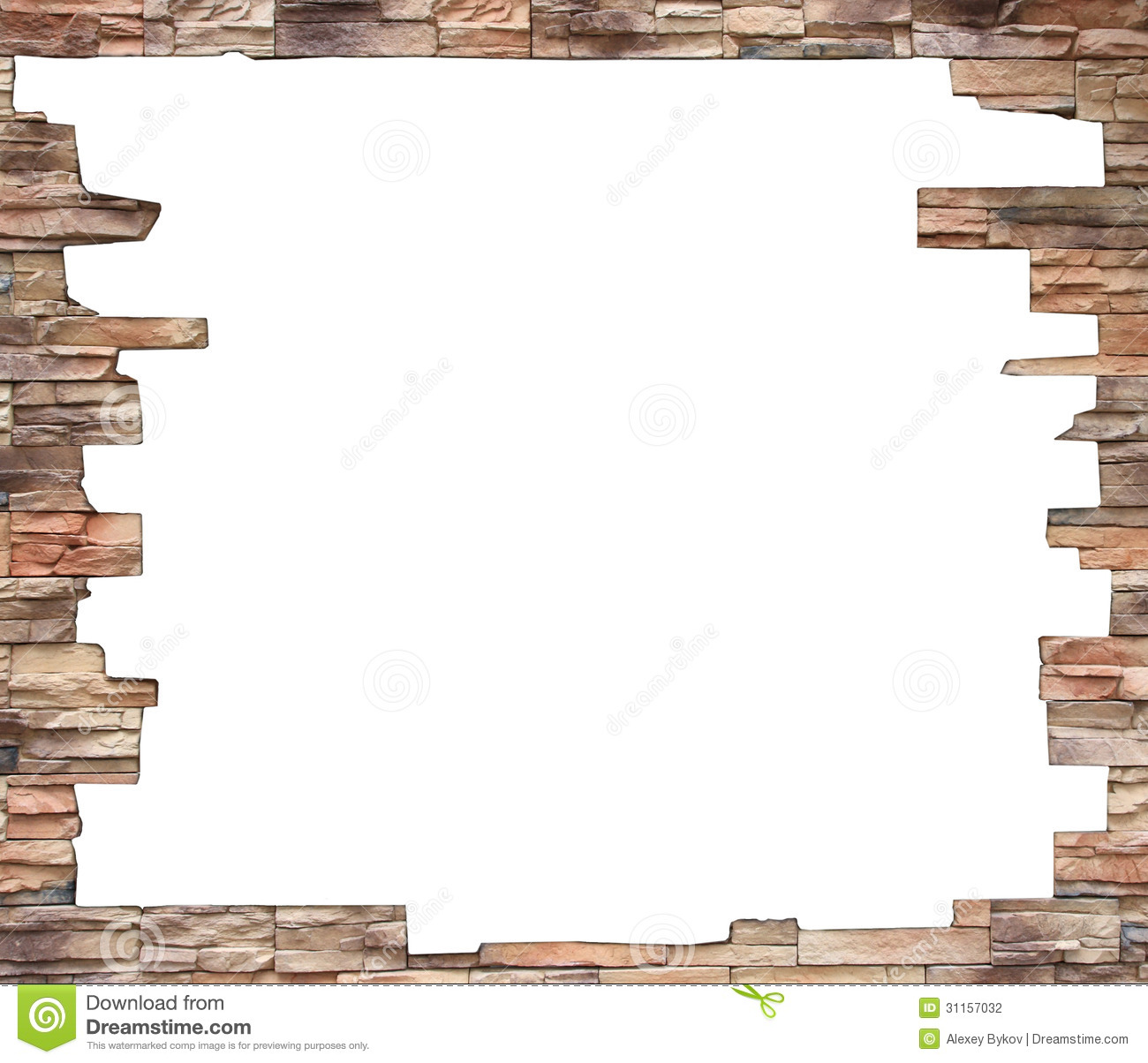 Old brick wall as a frame 01 stock photo image 18377500 - Filename Brick Wall Frame White Hole Old Grunge Interior 31157032 Jpg