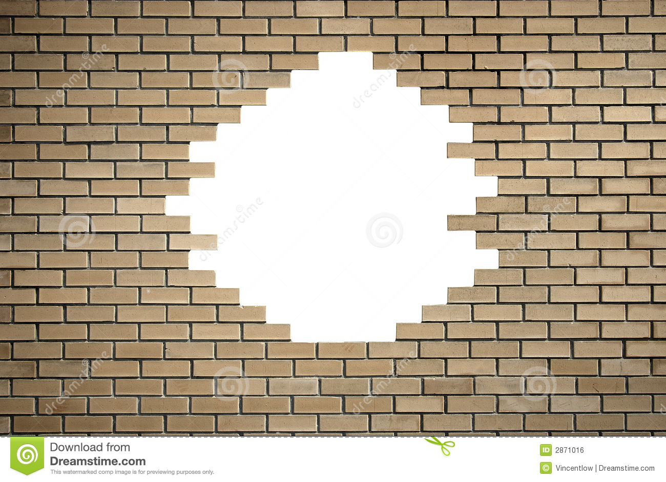 Image Gallery hole in brick wall