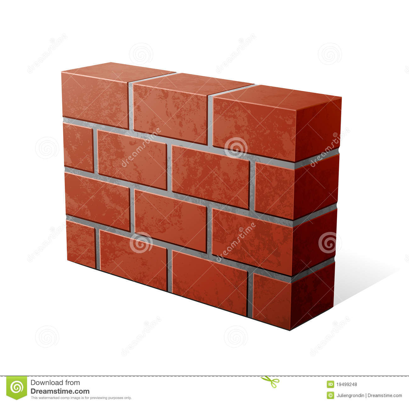 Brick Wall Icon Royalty Free Stock Photos - Image: 19499248