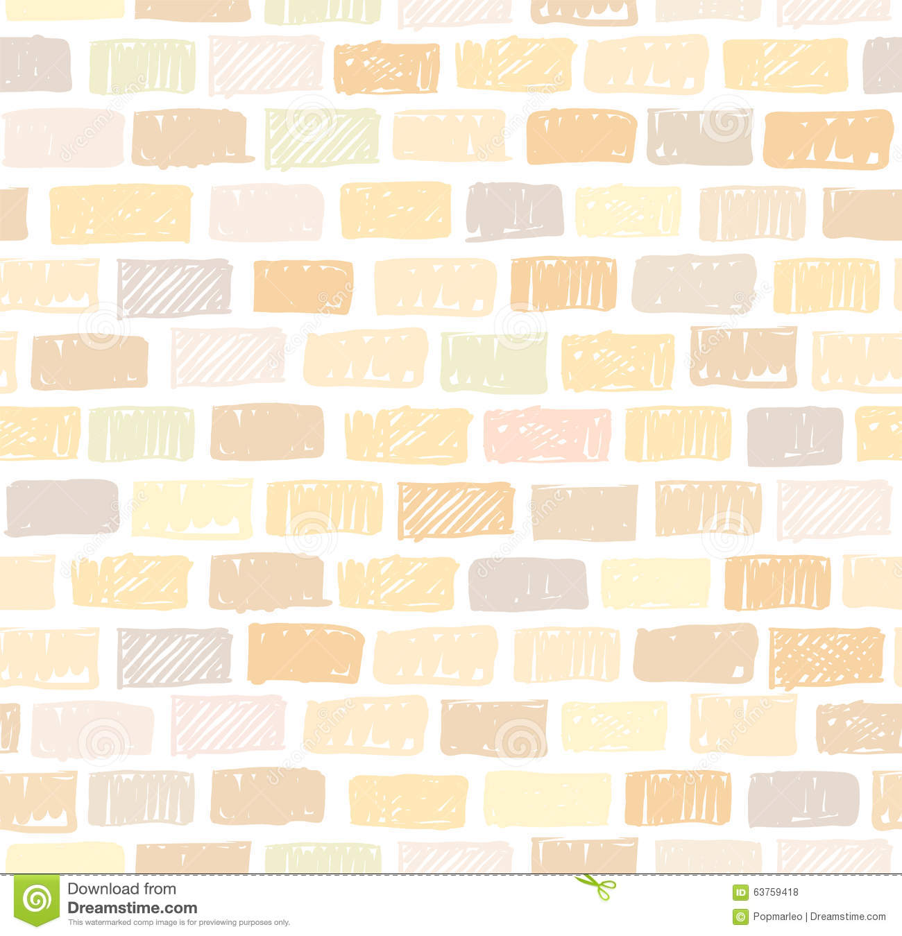 Brick wall light seamless pattern drawing stock vector for Exterior brick design patterns