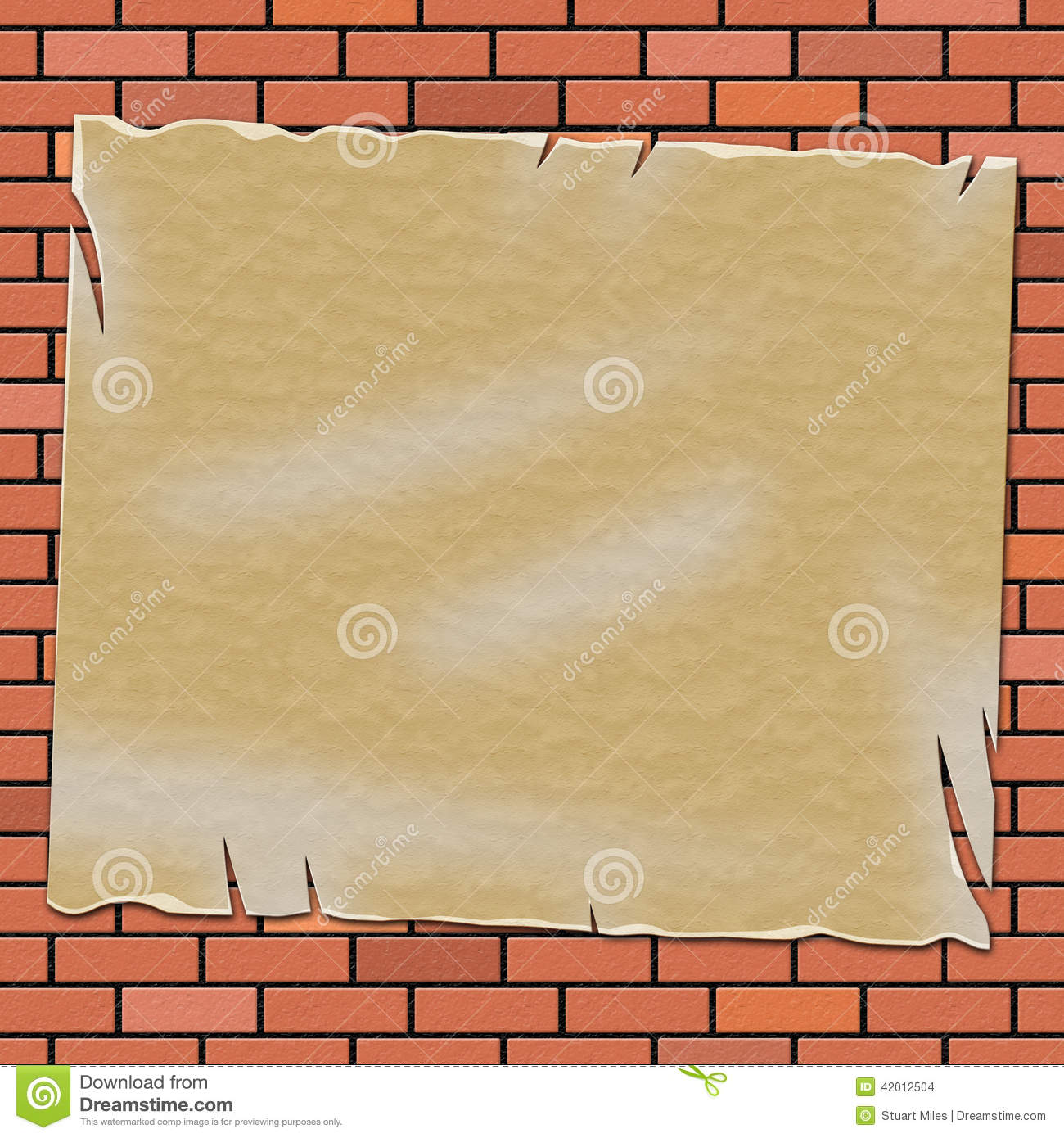 Brick Wall Means Empty Space And Backdrop Stock Illustration ...