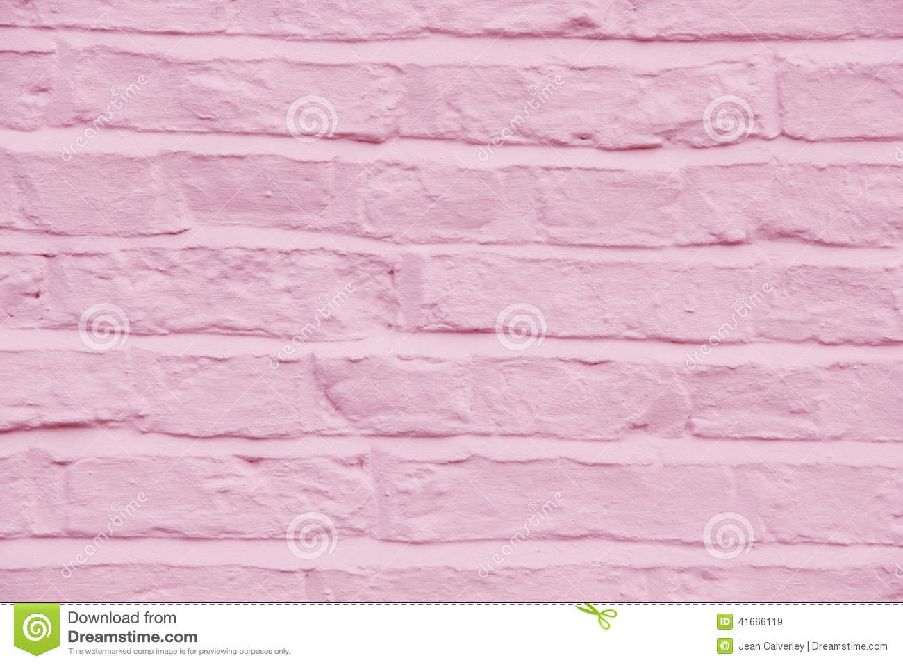 Brick Wall Painted A Pretty Pink Color Background Stock