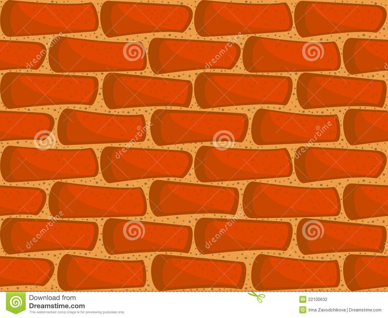 Brick Wall Seamless Stock Vector. Image Of Drawing, Cement