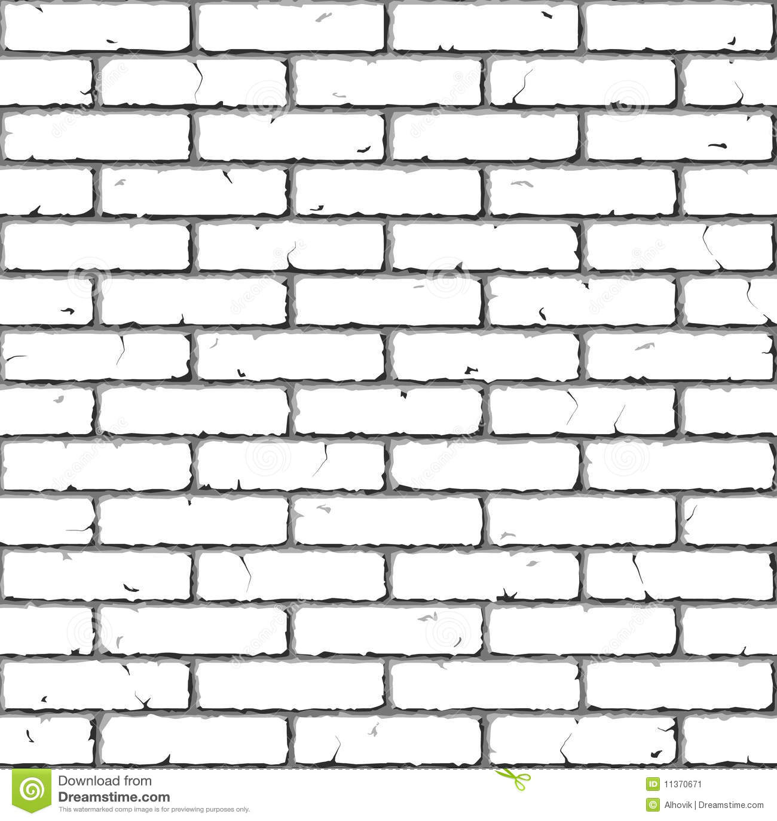 brick wall seamless illustration stock vector Cartoon Brick Stone Brick Wall Clip Art Template
