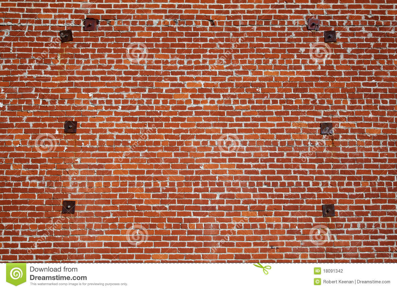 Brick Wall Steel Support Stock Photography Image 18091342
