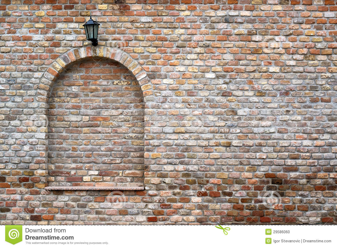 More similar stock images of ` brick wall and street lantern `