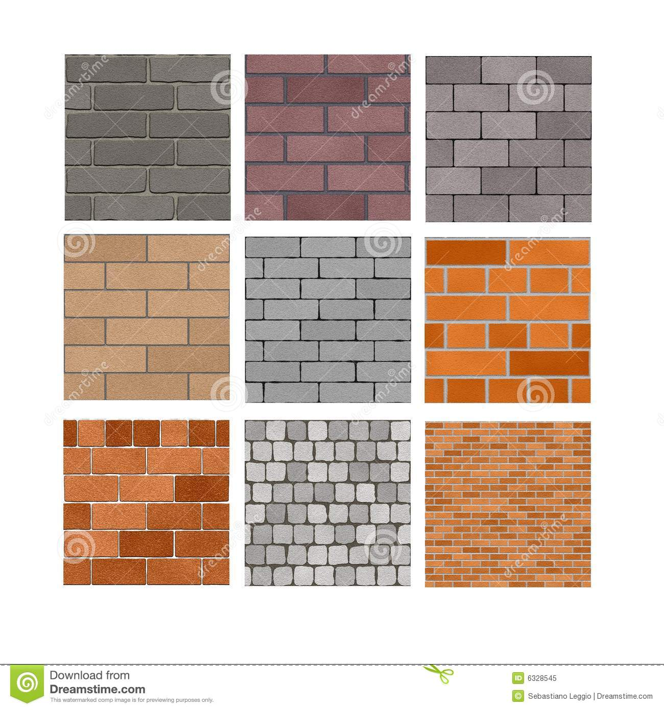 Brick Wall Textures Stock Illustration Image Of