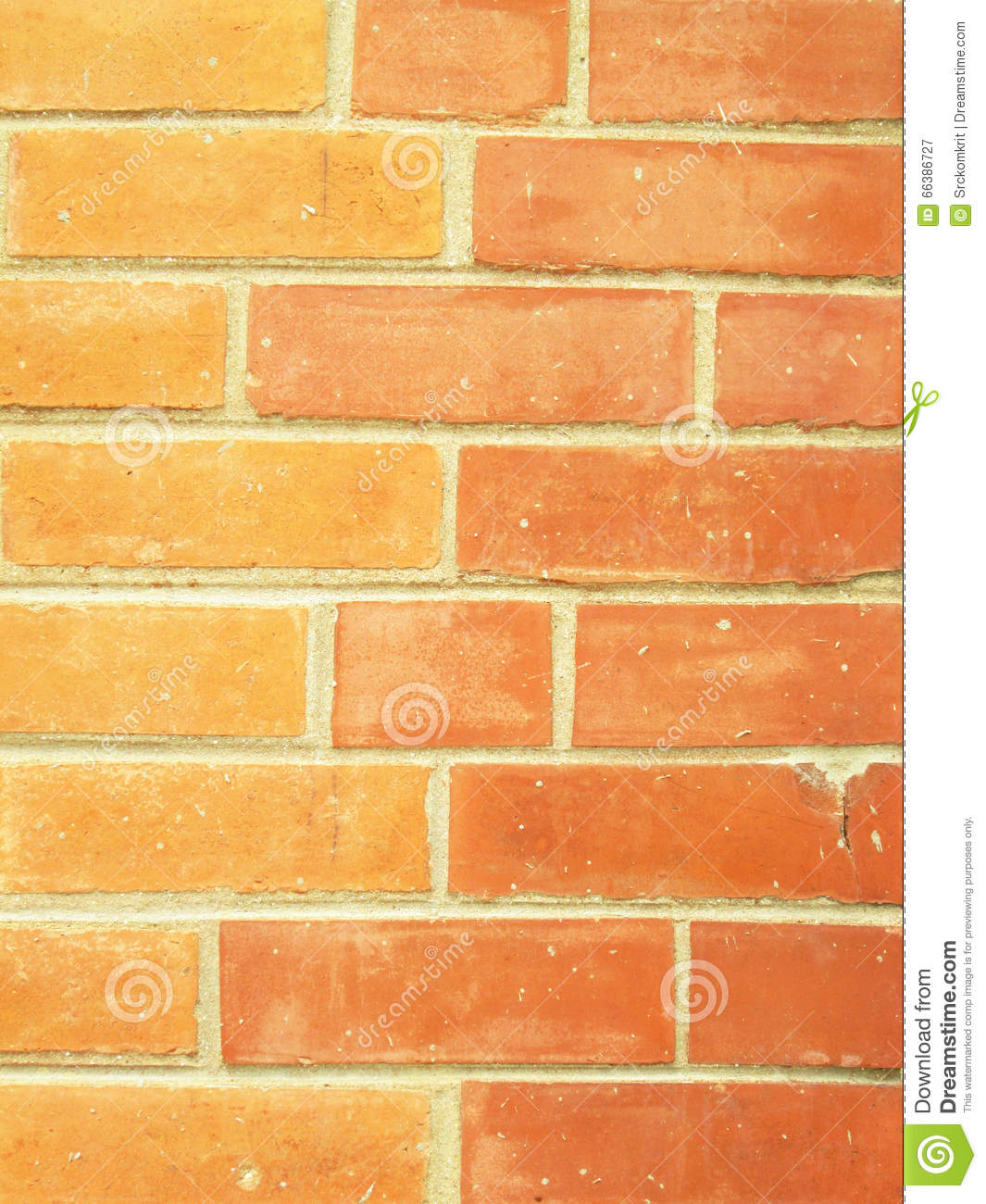 Brick Wall With Two Different Colors Of Bricks Stock Image - Image ...