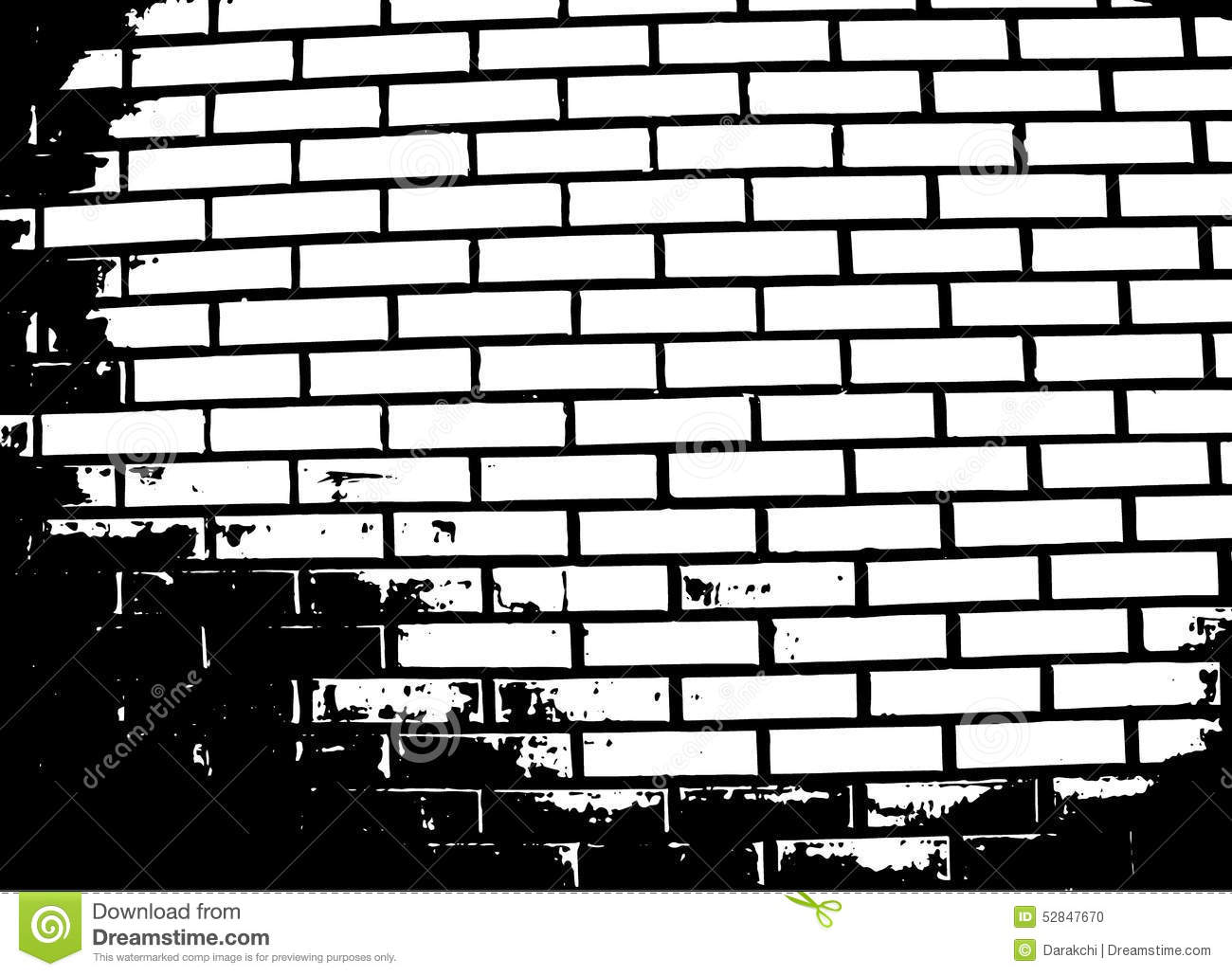 Brick Wall Vector Illustration Stock