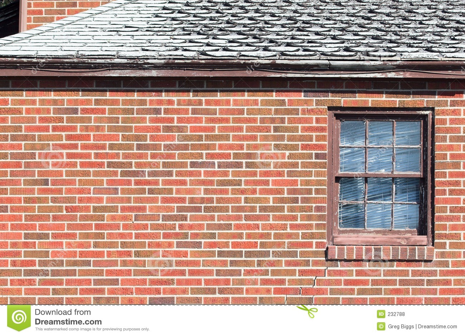 brick wall window royalty free stock photos