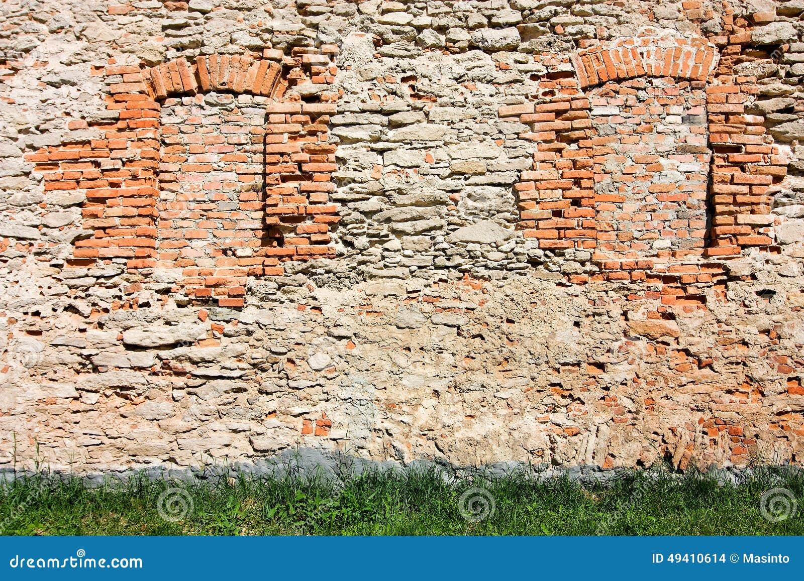 Download Bricked herauf Fenster stockfoto. Bild von hintergründe - 49410614