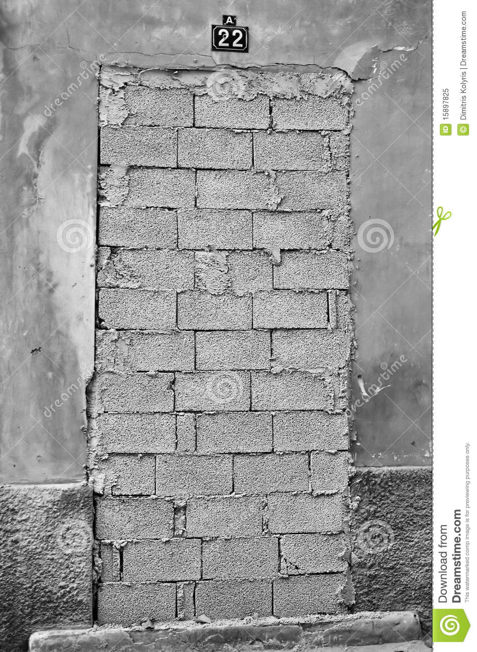 Bricked up door