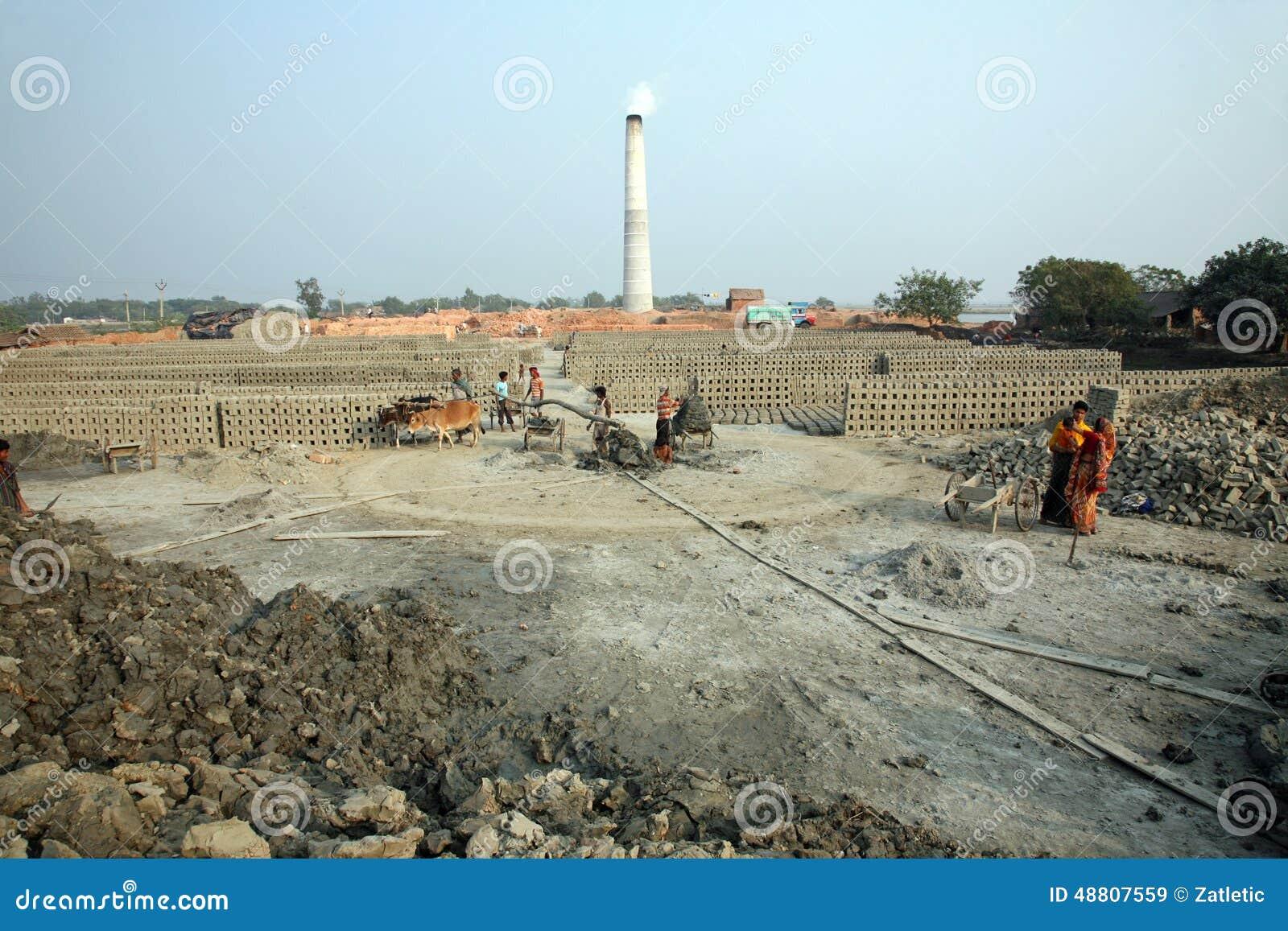 Brickfield in Sarberia, India