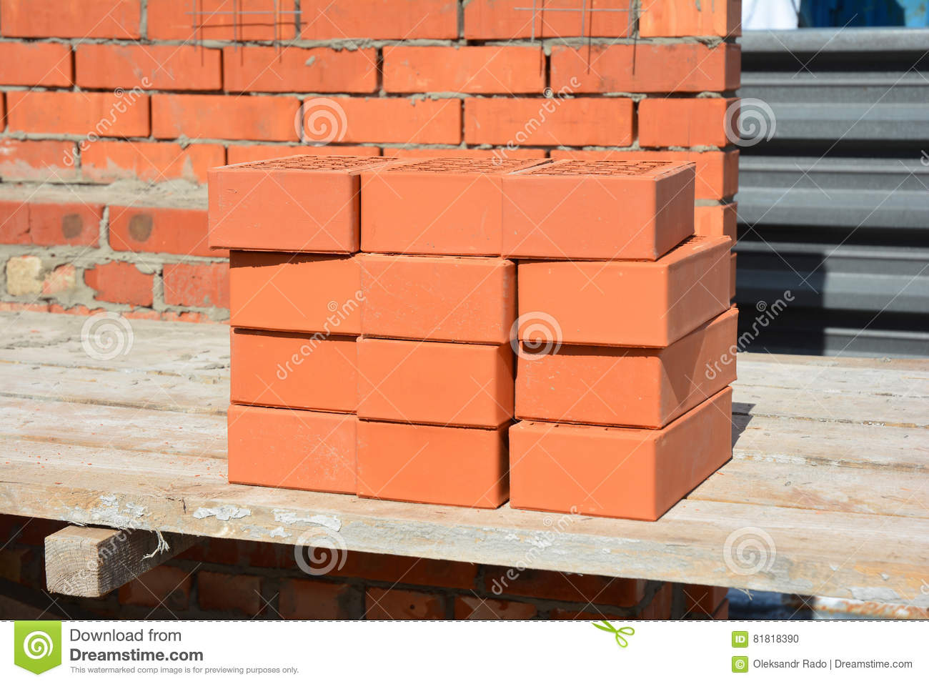 Bricklaying House Construction Site. How To Lay Bricks Like A ...
