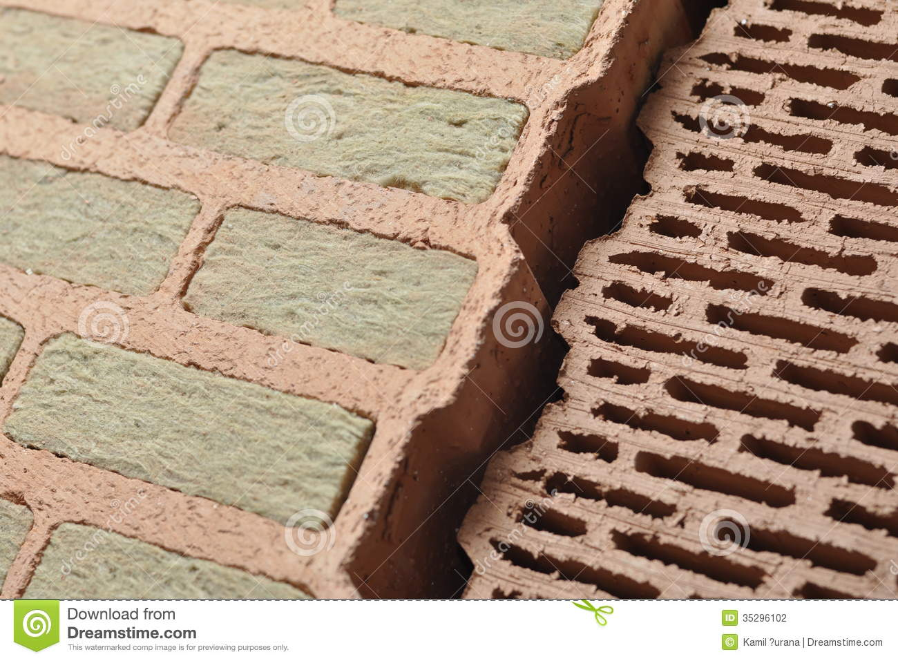Bricks With Insulation Stock Photo Image Of Industry