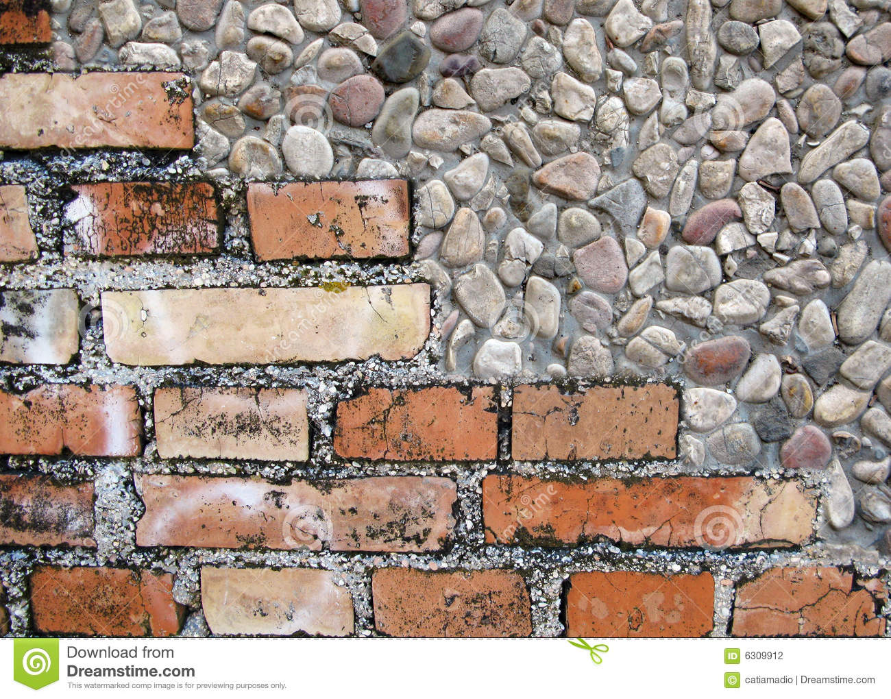 Bricks and stones stock photography image 6309912 for Stone and brick