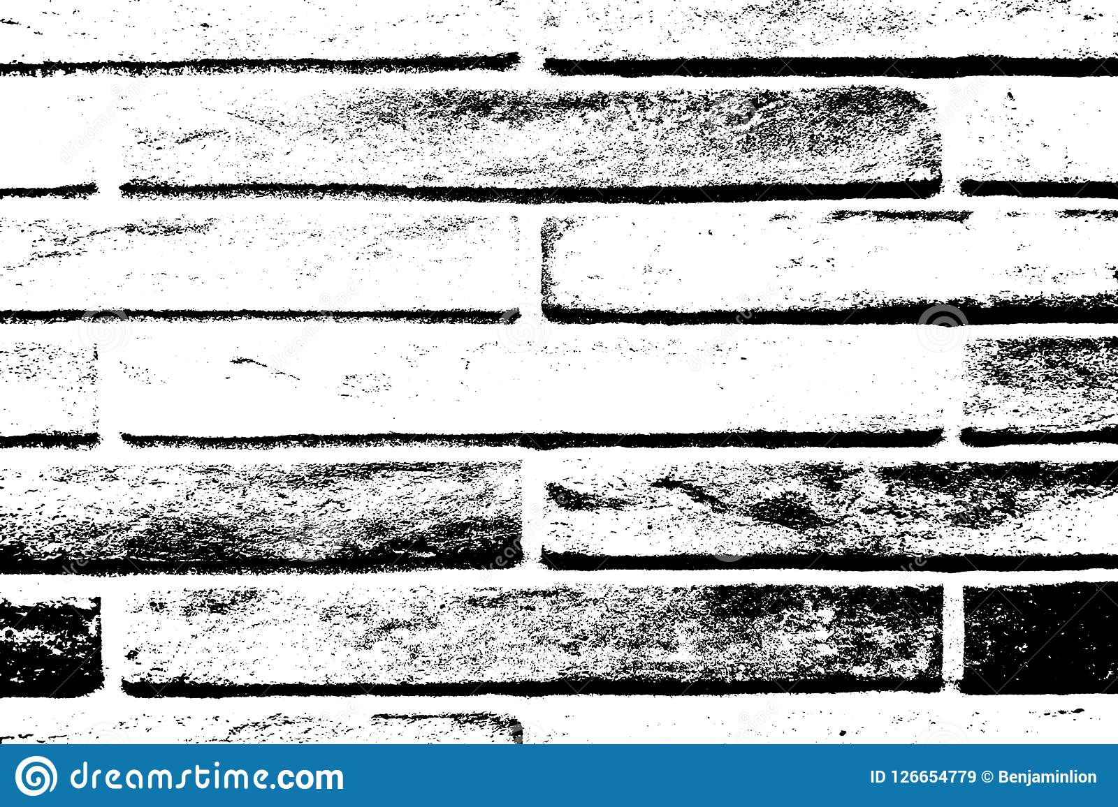 Brickwall Overlay Texture. Distress brick wall masonry overlay texture. Grunge urban dirty background. Aging stone template cover. EPS10 vector Vector Illustration