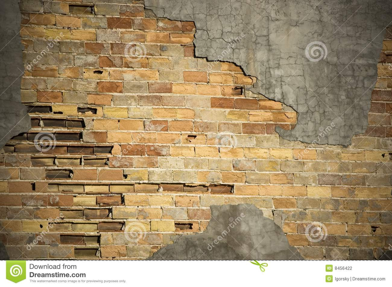 Brickwallcement cracked riden ut yttersida