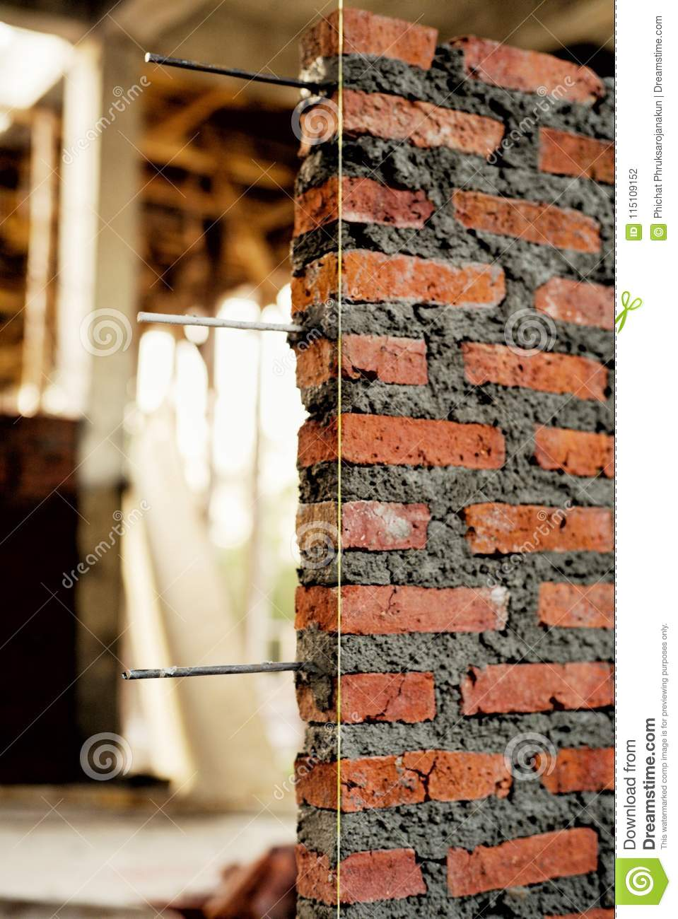Strange Brickwork Wall With The Steel Wire Inside Stock Photo Image Of Wiring Digital Resources Aeocykbiperorg