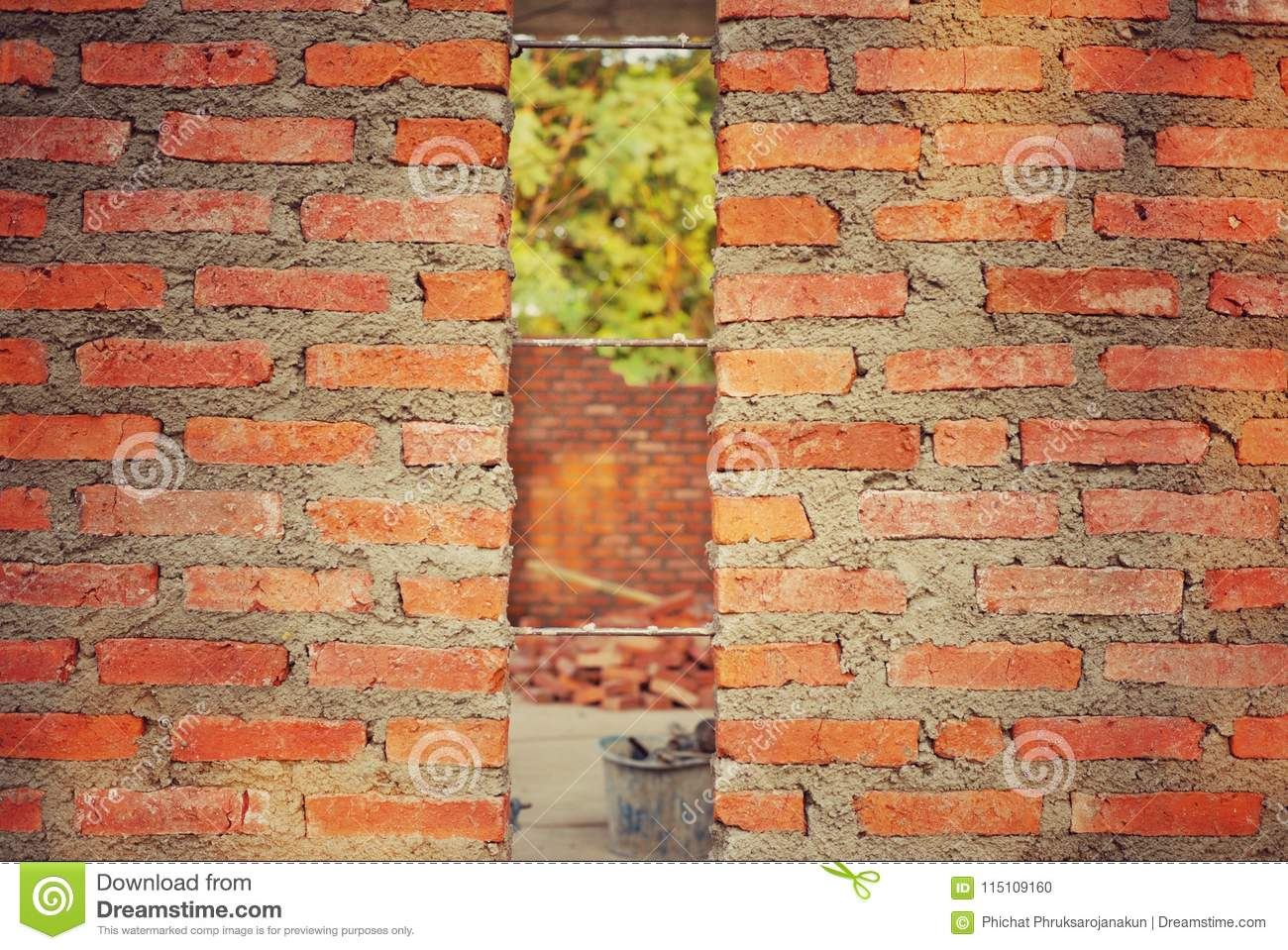 Awesome Brickwork Wall With The Steel Wire Inside Stock Photo Image Of Wiring Digital Resources Aeocykbiperorg