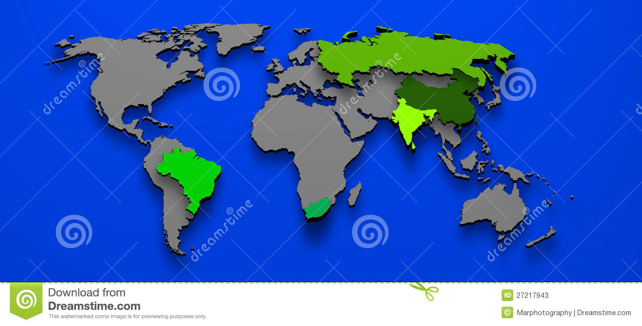 Brics brazil china russia india south africa stock illustration brics brazil china russia india south africa gumiabroncs Gallery