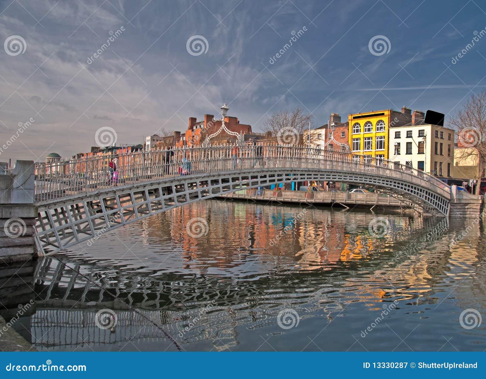 Bridżowy Dublin sławny brzęczeń Ireland punkt zwrotny cent